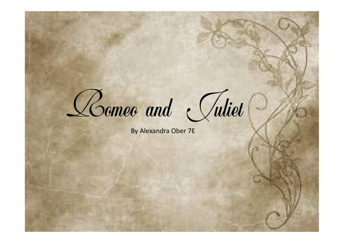 Romeo and Juliet assesment