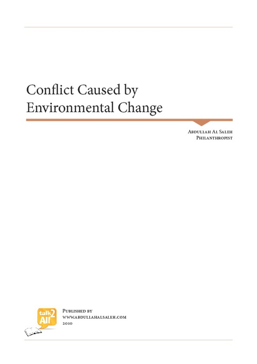 Conflict caused by Environmental Change