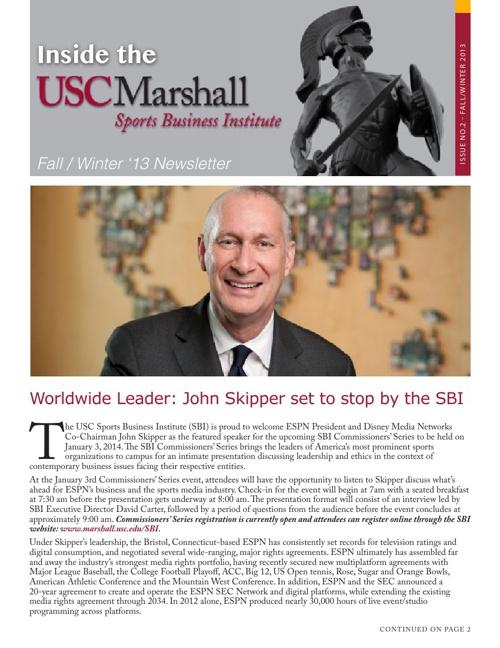 SBI Newsletter - Fall/Winter 2013