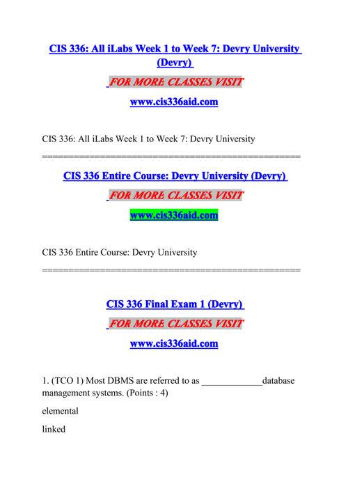 CIS 336 AID Experience Tradition/cis336aid.com