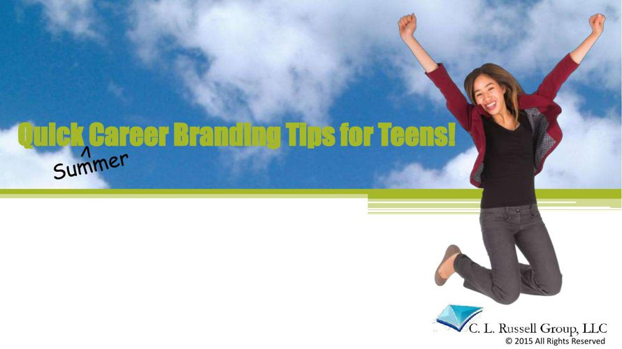 Quick Summer Career Tips for Teens