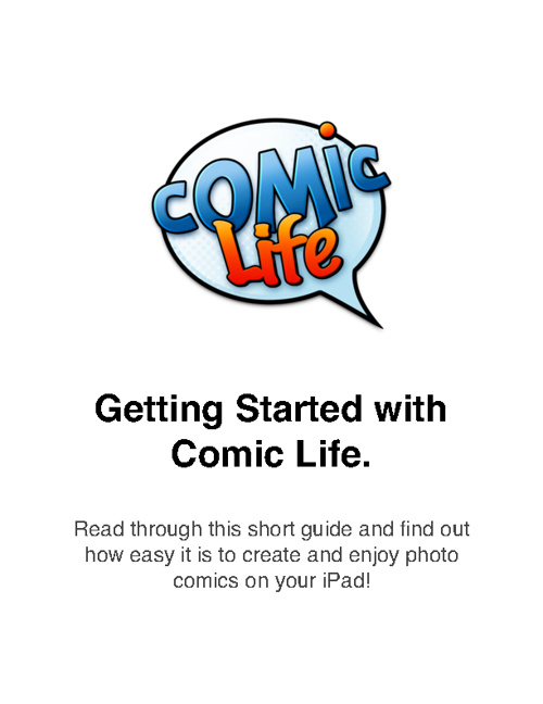 Getting Started With Comic Life
