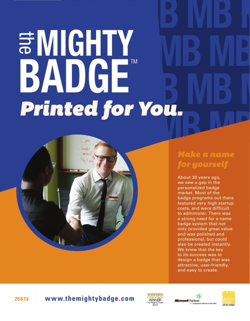 The MIGHTY BADGE - Printed for you