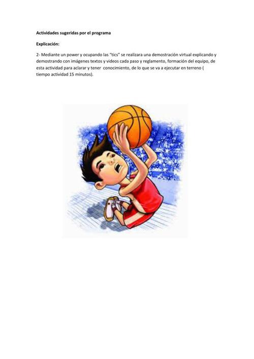 planificacion informatica basquet