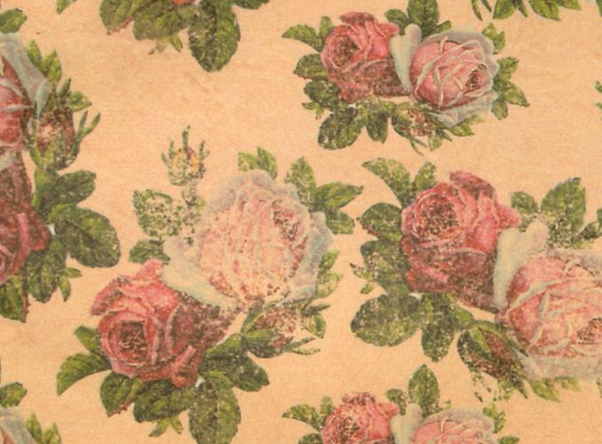 back of card- rose print
