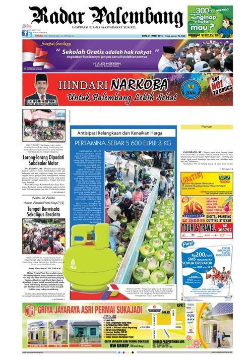 Radar Palembang Edisi 21-03-2013 Koran 1
