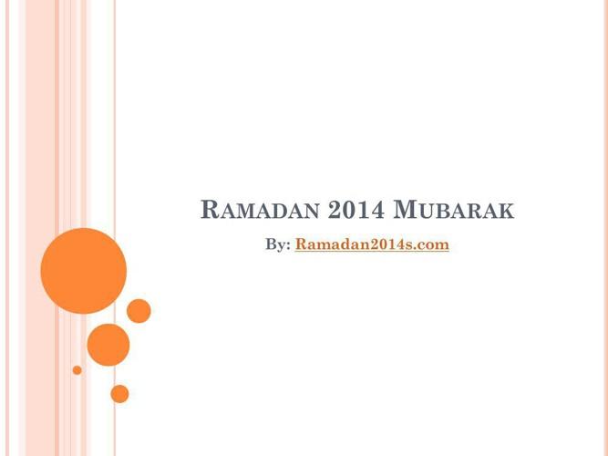 Ramadan 2014 Mubarak