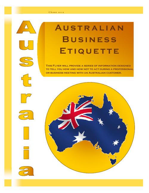 Australian Business Etiquette
