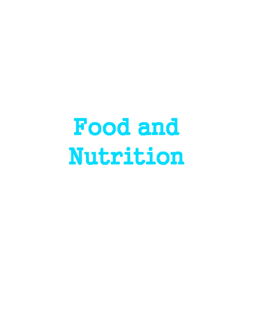 Food and Nutrition GI Tract