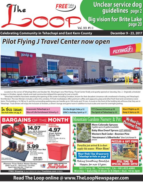 The Loop Newspaper - Vol 33 no 11 - Dec 9 to Dec, 2017