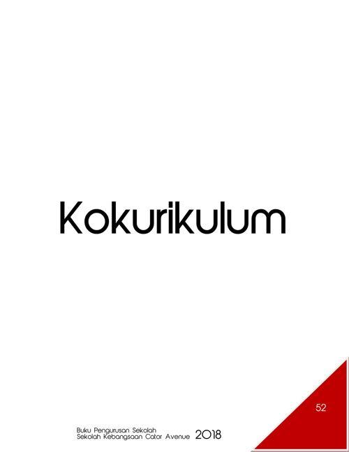 Pengurusan Kokurikulum 2018