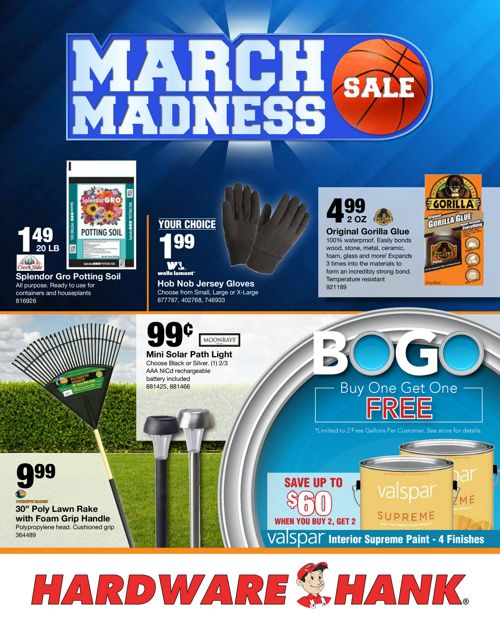 Shelby Paint & Hardware March Flyer