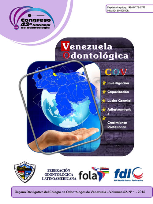 Revista Venezuela Odontológica COV Vol. 62