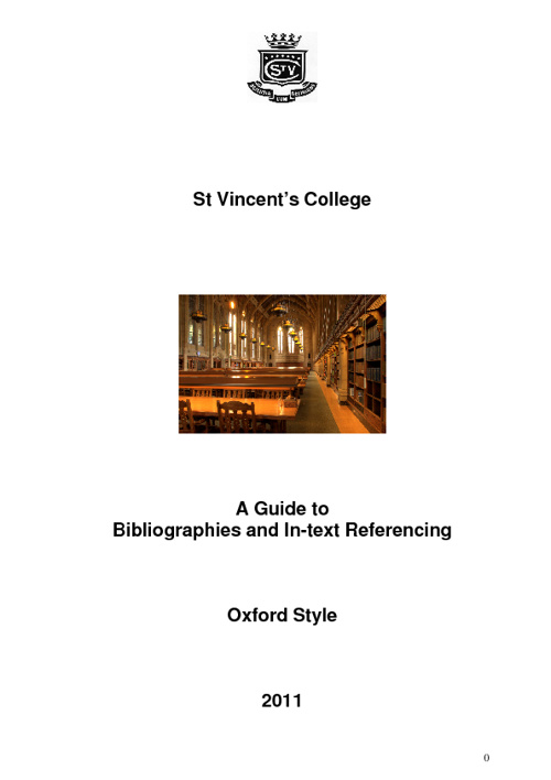 Guide to Oxford Referencing