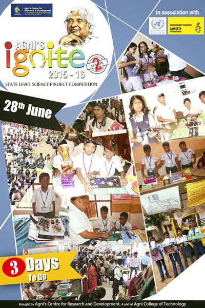 AGNI's IGNITE 2015-2016,STATE LEVEL SCIENCE COMPETITION