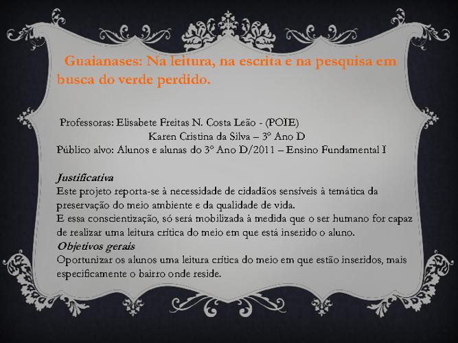 Projeto: Guaianases