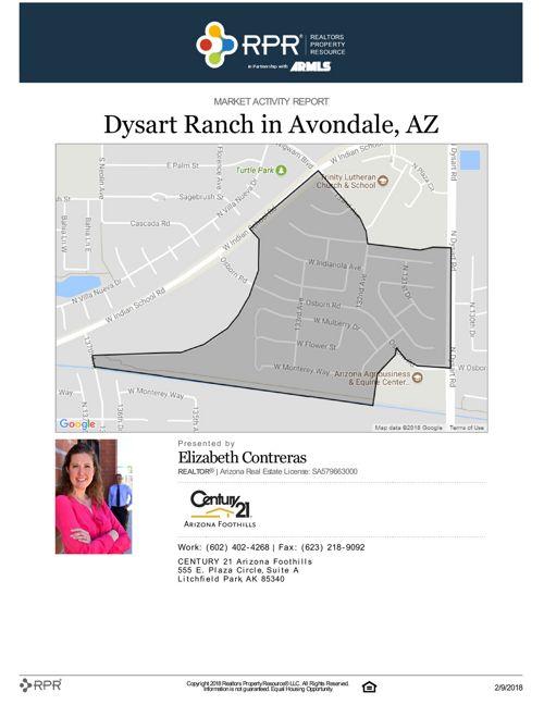 January Dysart Ranch Market Activity