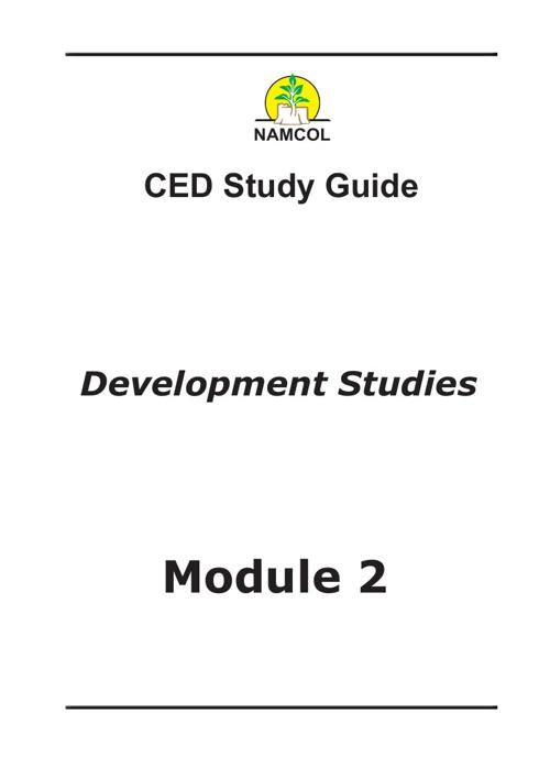Development Studies Module 2
