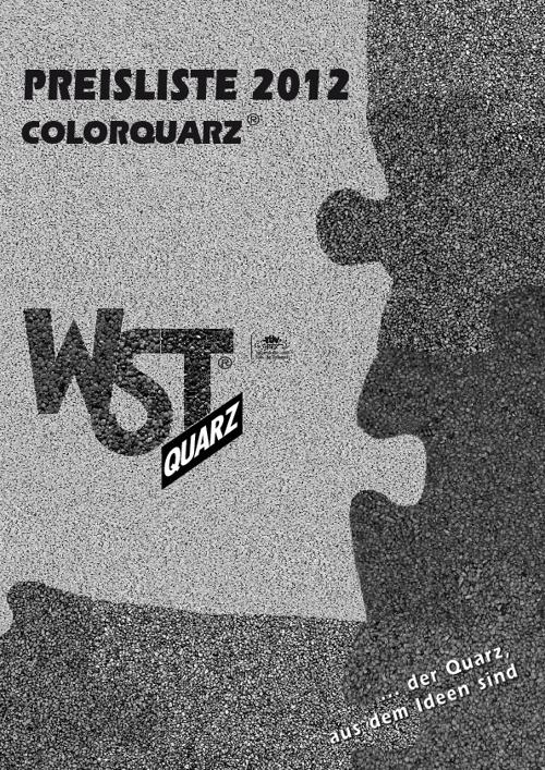 Pricelist 2012 Color quarz