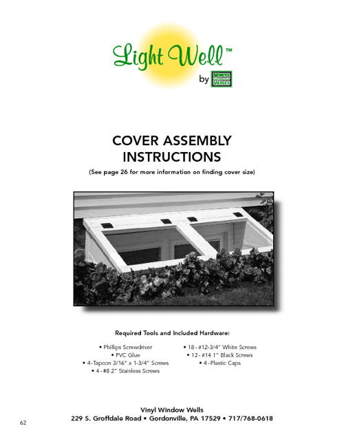 Cover Assembly Instructions
