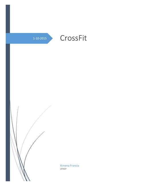 CrossFit, un nuevo deporte