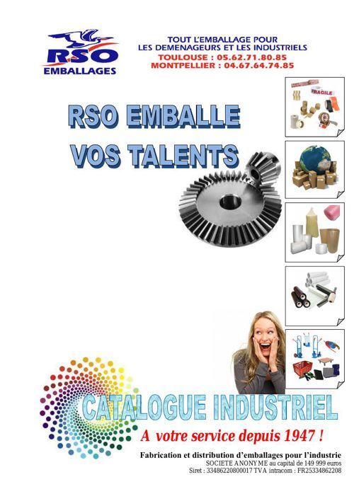 catalogue industriel RSO EMBALLAGES 2015