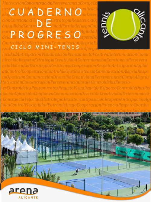 cuaderno progreso mini-tenis