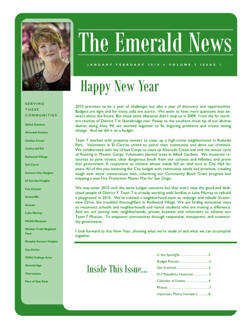 The Emerald News: Volume 2, Issue 1 (January/February 2010)