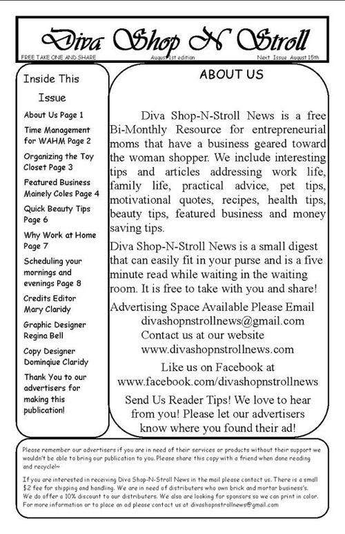 Facebook Diva Shop N Stroll News