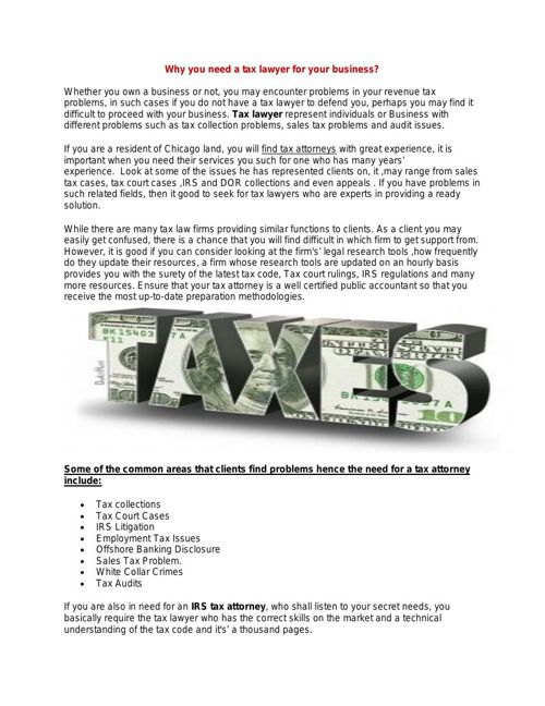 Why you need a tax lawyer for your business