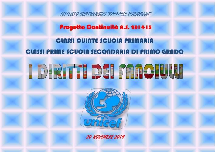 20-11-2014 Progetto Continuità - I Diritti dei Fanciulli
