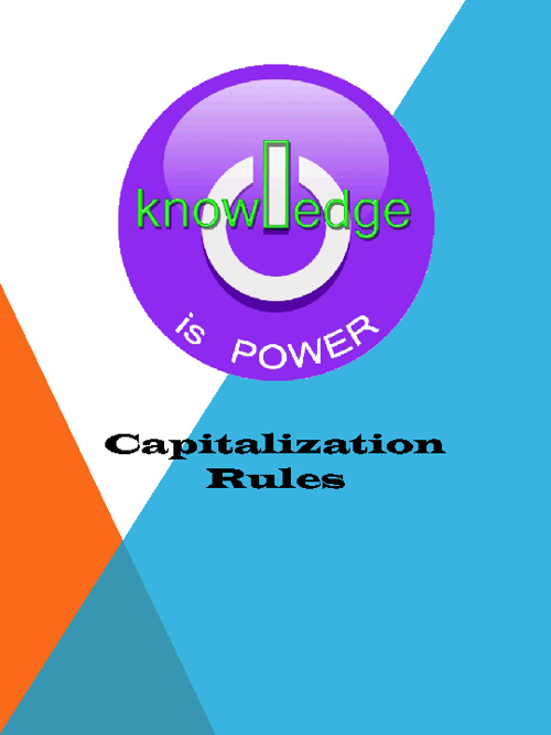 Capitalization POWER