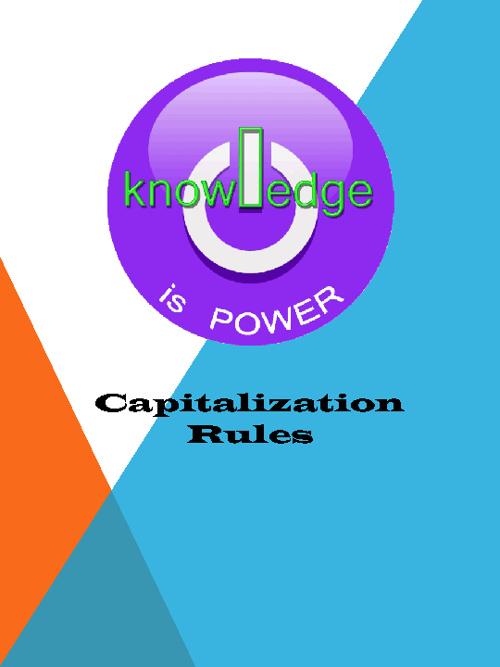 Capitalization POWER