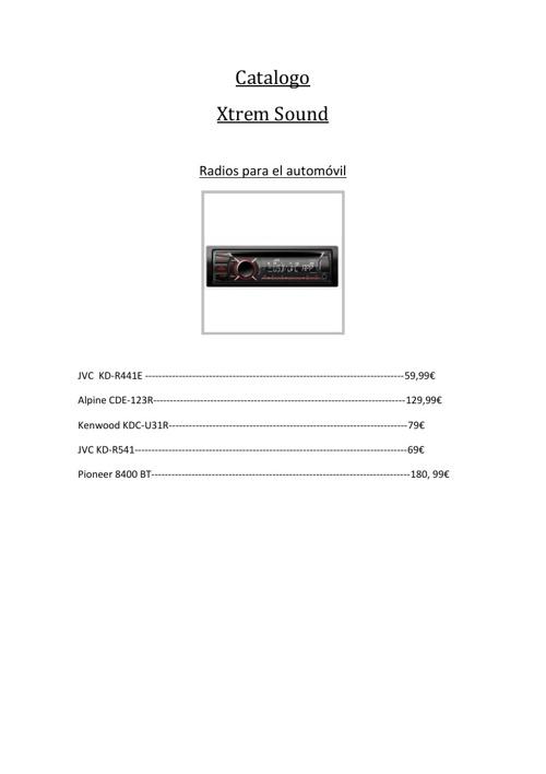 Xtrem Sound Catalogo