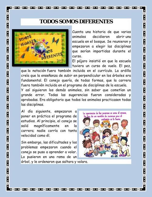TODOS SOMOS DIFERENTES pdf