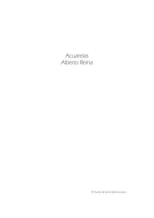 Acuarelas Alberto