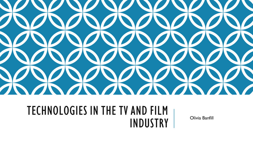 Technologies in the TV and film industry