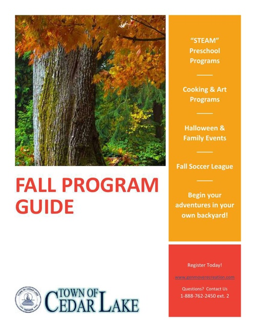 2014 Fall - Cedar Lake Recreation Brochure