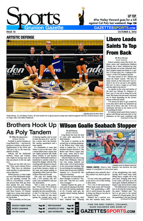 Gazette Sports | October 6, 2016