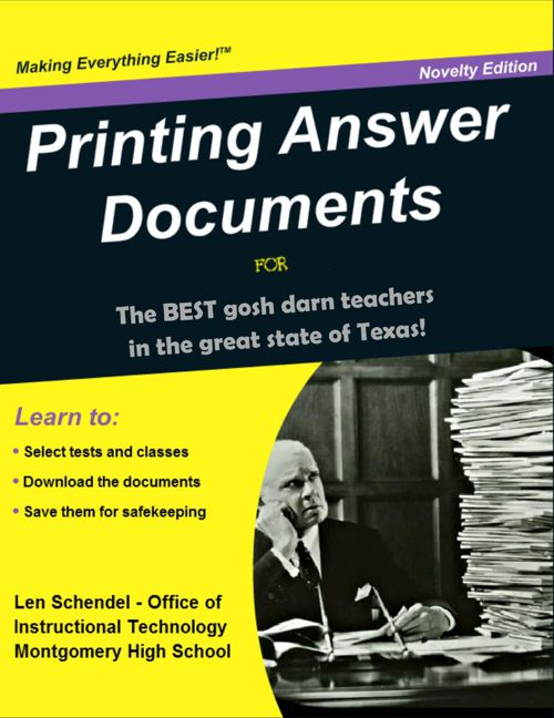 Part II - Printing Answer Documents (Illustrated)+