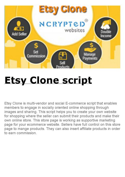 Etsy Clone script by NCrypted