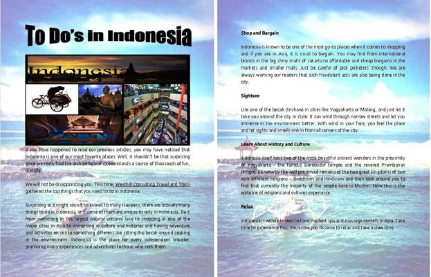 To Dos in Indonesia