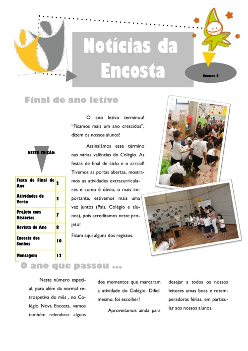 Newsletter Nº8 - Junho de 2013