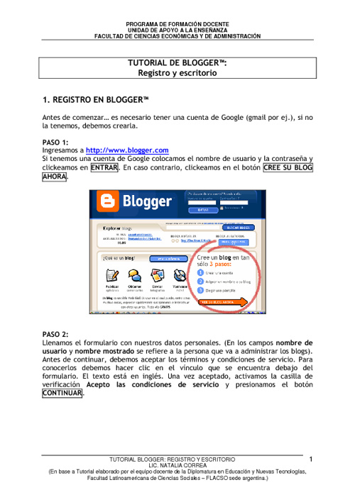 Tutorial de Blogger