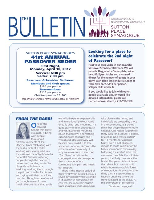 April/May/June 2017 Bulletin
