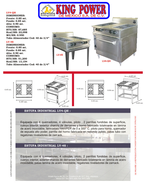 CATALOGO KING POWER DE MEXICO S.A DE C.V