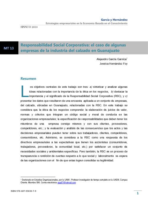 La Responsabilidad Social Corporativa Vista desde el Institucion