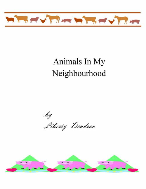 Animals that live in my Neighbo 29 pages