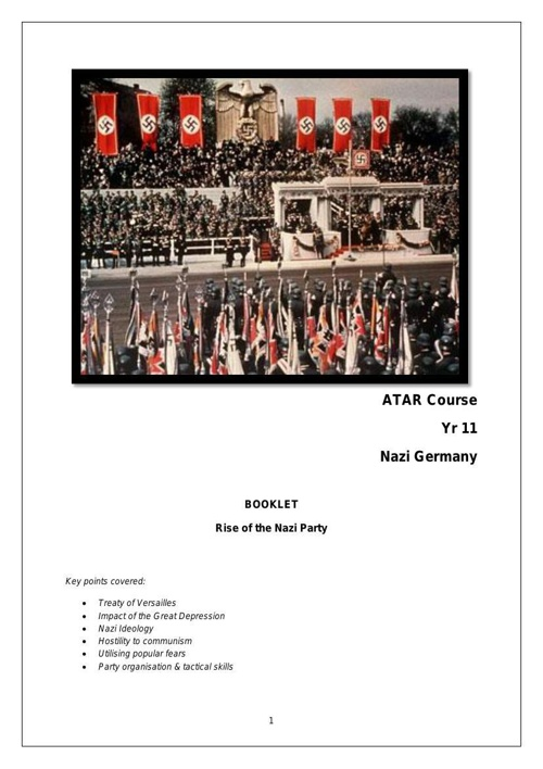 ATAR_Course_Yr_11_History__Nazi_germany Rev 2