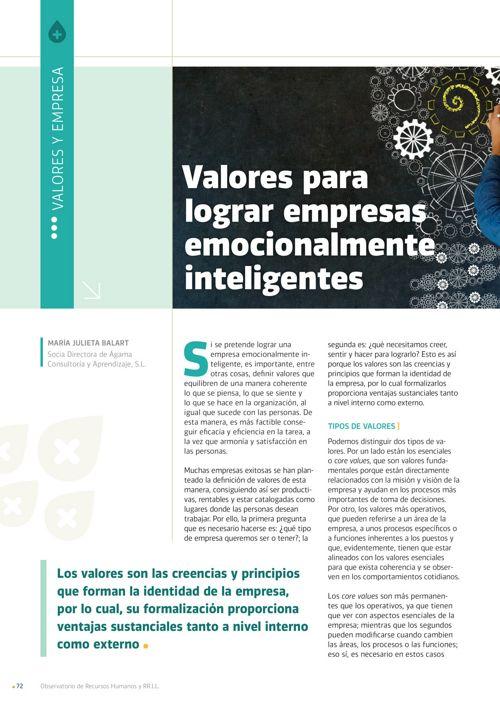 101 Valores para  lograr empresas emocionalmente inteligentes